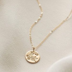 Cherry Blossom March Flower Japanese Necklace
